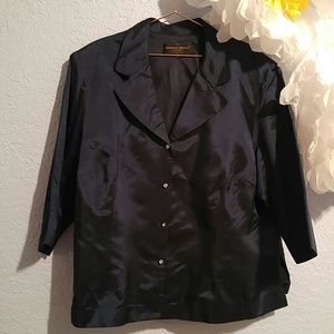 Donna Ricco New York Woman Navy Blazer SZ 24W